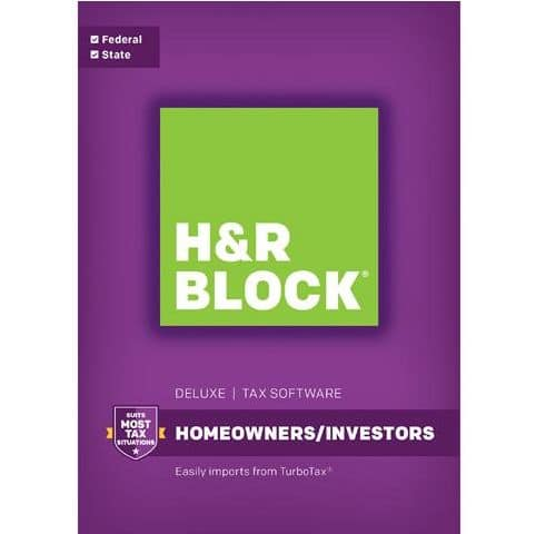 H&R Block Deluxe + State 2016 Tax Software + $20 Nike Gift Card ...