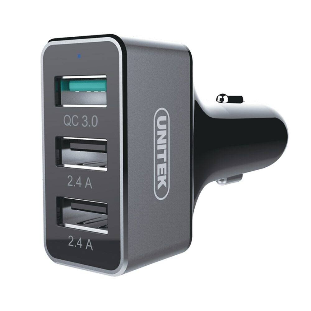 Unitek 42W 3-Port Aluminum USB Car Charger with Quick-Charge 3.0 & SmartID Technology for $6.44 AC & More + FSSS or FS w/ Prime @ Amazon.com