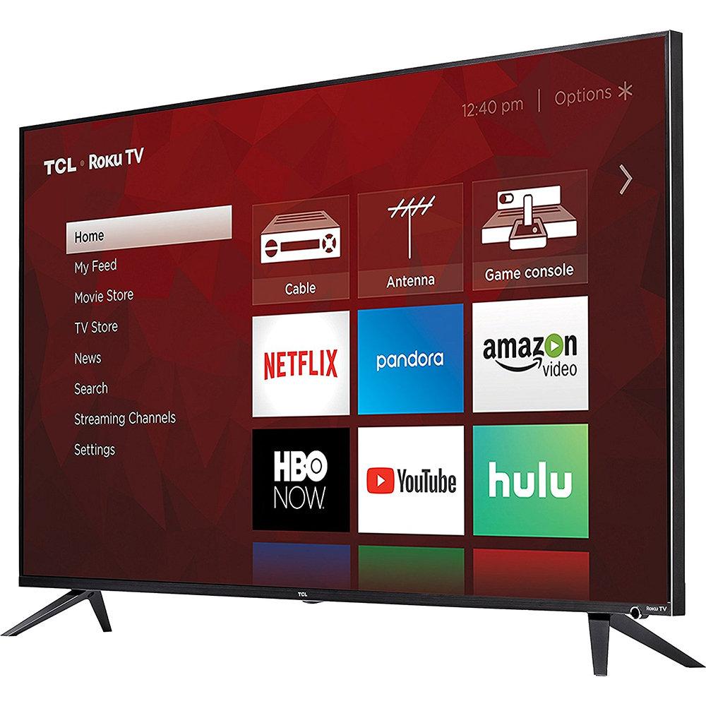 TCL 55'' 55R617 4K UHD HDR Roku Smart HDTV - $599(AC) - Free Shipping $599