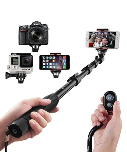 Arespark Self-portrait Monopod Wireless Bluetooth Selfie Stick With Adjustable Phone Holder $9.09+FS@Amazon.