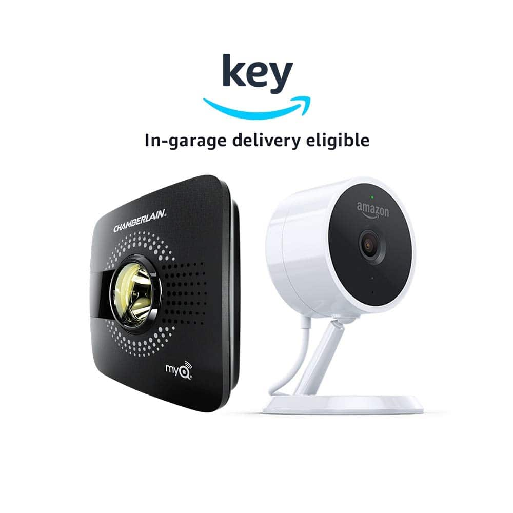 myQ Smart Garage Door Hub (Chamberlain MYQ-G0301) + Amazon Cloud Cam Security Camera | Key Smart Garage Kit - $100 - PRIME