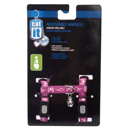 Catit Style Nylon Adjustable Cat Harness Leash:  Large Ribbon $6.28, Medium Butterfly $6.36, Small Blue $7.11, Blue Collar w/ Bell $2.16 & More - FS w/ Prime
