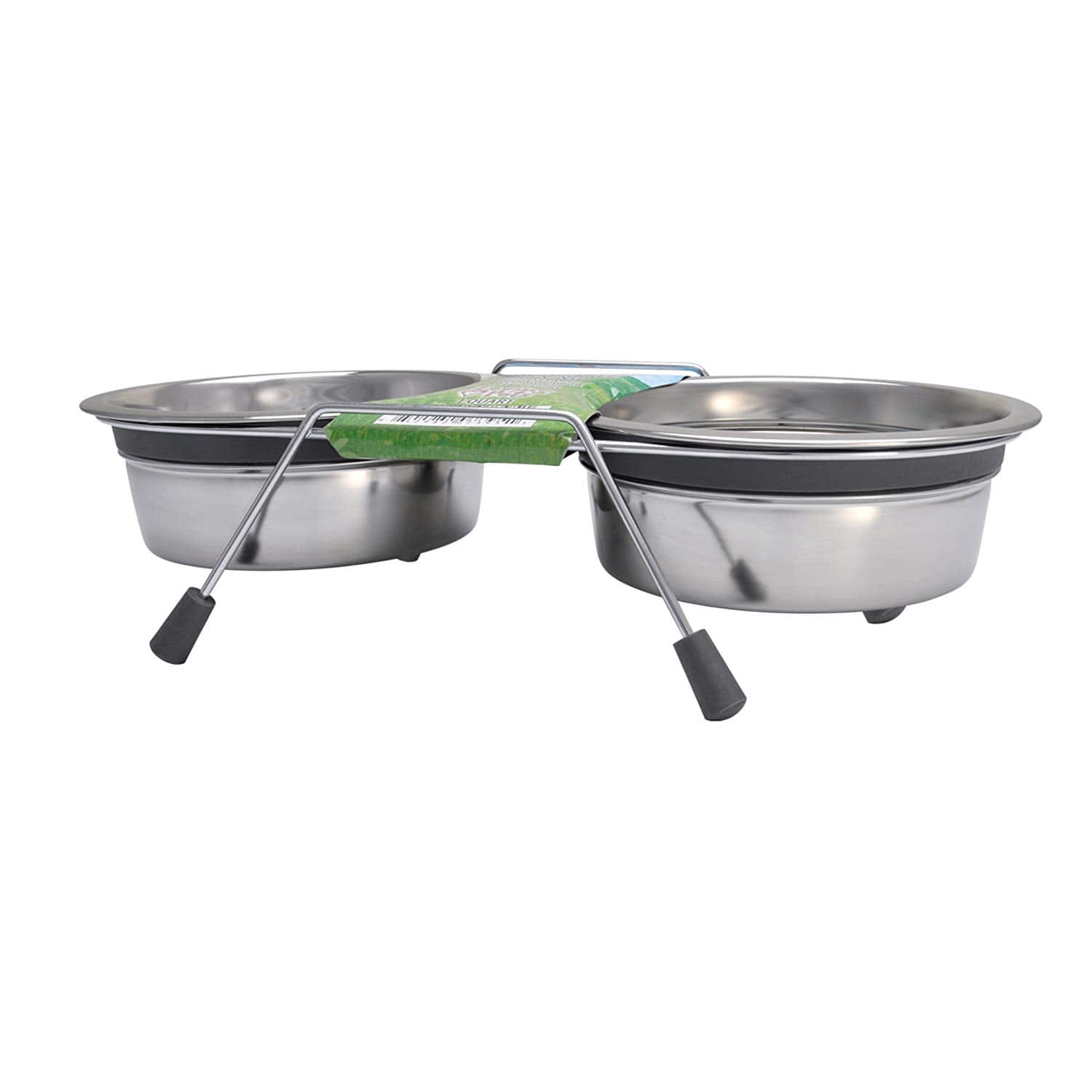 Loving Pets Silent Double Diner Stainless Steel Pet Bowl $2.04 FS w/ Prime