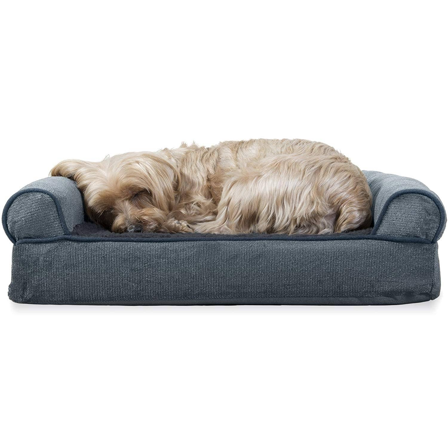 Furhaven Pet Dog Bed: Sofa-Style Living Room Couch Orthopedic Pet Bed for Dogs & Cats Small $12.99 FS w/ Prime