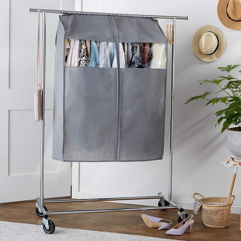 "AmazonBasics Wardrobe 32"" Hanging Closet Storage Bag with Zipper $5.51 FS w/ Prime"