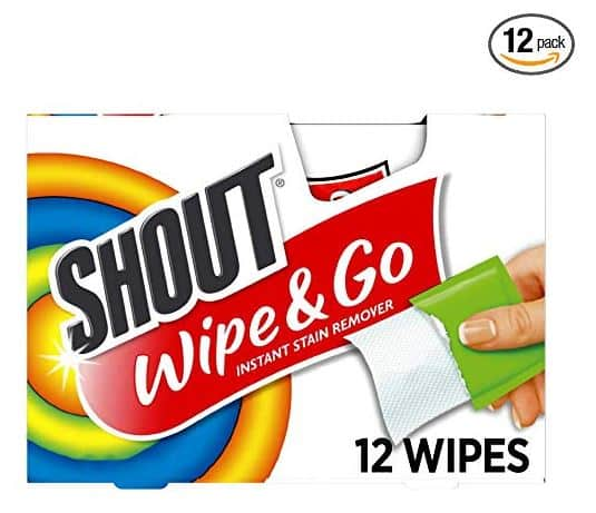Walgreens Shout Wipe & Go Instant Stain Remover Wipes