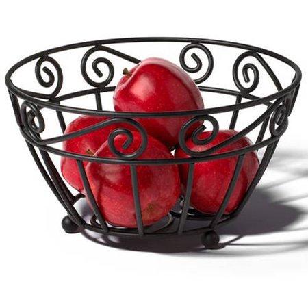 Spectrum Diversified Scroll Fruit Bowl, Black $5.11 FS w/ Prime