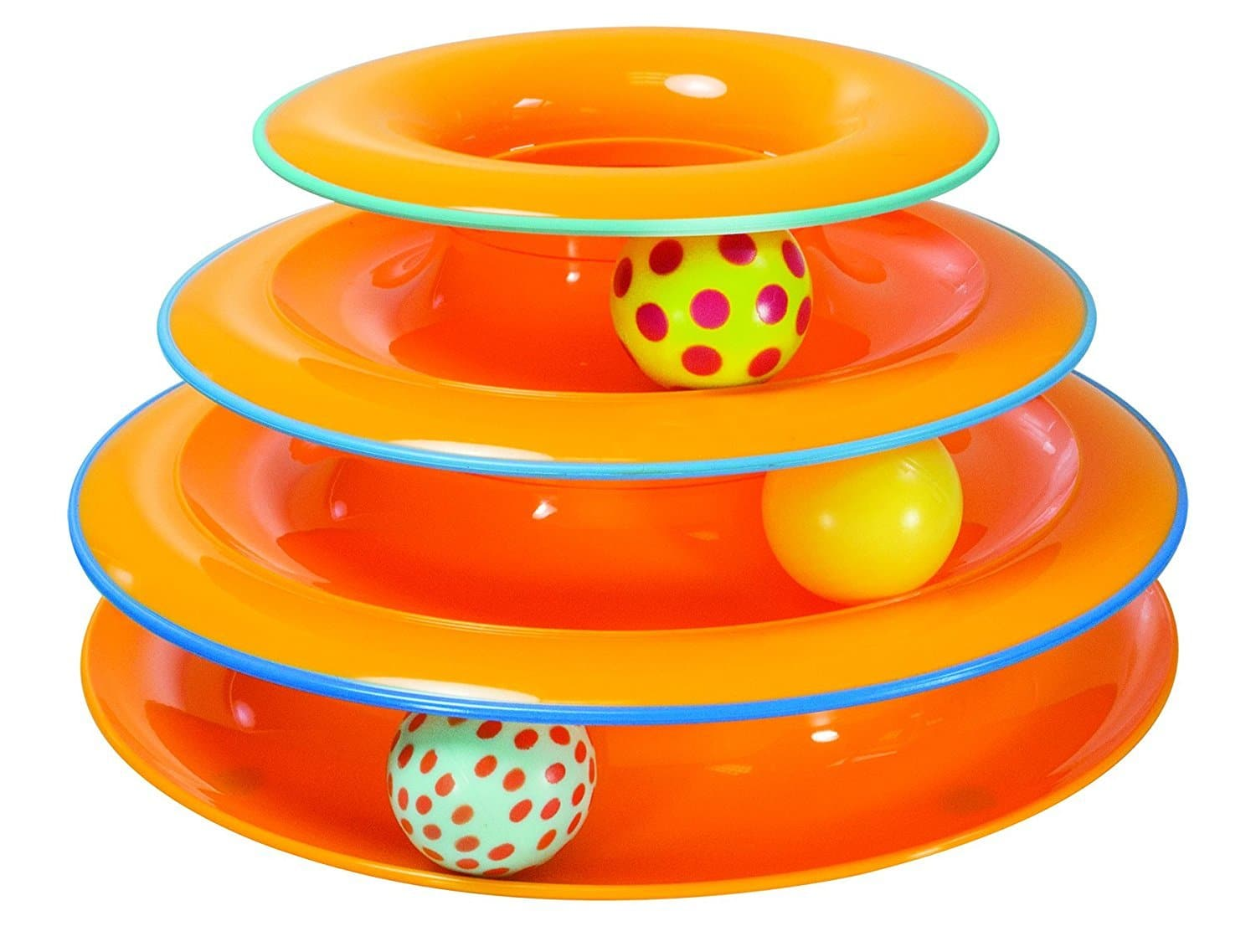 Petstages Tower of Tracks Cat Toy Circle Track with Moving Balls $5.02 FS w/ Prime