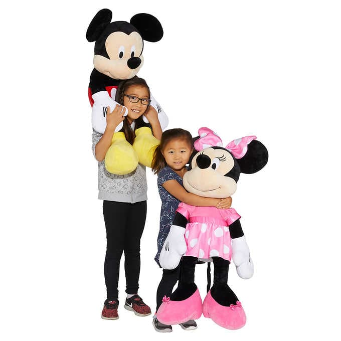 Costco Members: Disney Mickey Mouse and Minnie Mouse 36-inch Jumbo Plush, 2-pack $20 Free Shipping