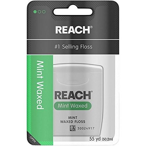 Reach Waxed Dental Floss, Mint, 55 Yards $0.92 w/ S&S FS w/prime or $25+