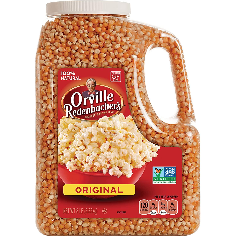 Orville Redenbacher's Gourmet Popcorn Kernels, Original Yellow, 8 lb $11.49 FS w/ Prime