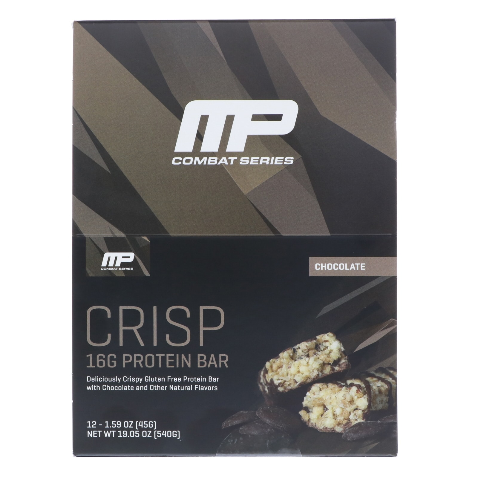 MusclePharm Combat Crunch Protein Bar, Multi-Layered Baked Bars, 20g Protein, 12 bars: Chocolate Cake $13.10, Double Stuffed Cookie Dough $12.81 w/ S&S