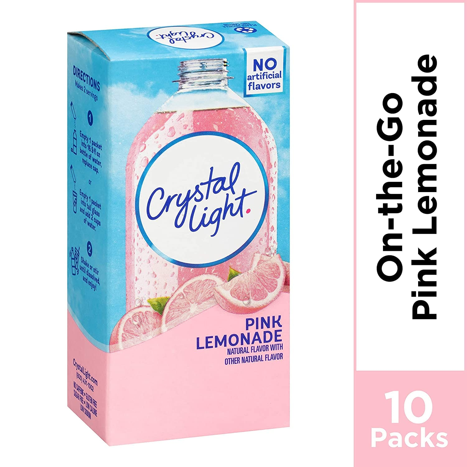 Crystal Light Pink Lemonade Drink Mix (10 On the Go Packets) $2.18 or less, FS w/ S&S