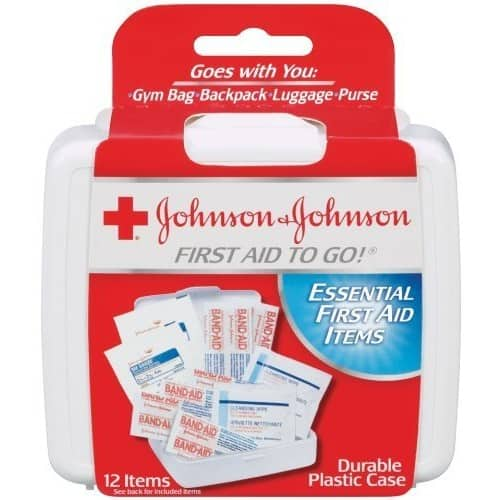 Johnson & Johnson Red Cross First Aid-to-Go Mini First Aid Kit, (12 items) $0.99 FS w/ Prime