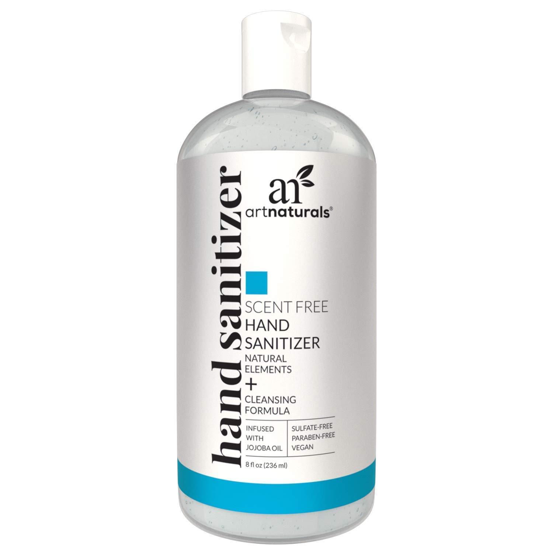 Artnaturals Unscented Hand Sanitizer, 8 OZ - 62.5% ETHYL ALCOHOL - $3.48 FS w/ Prime