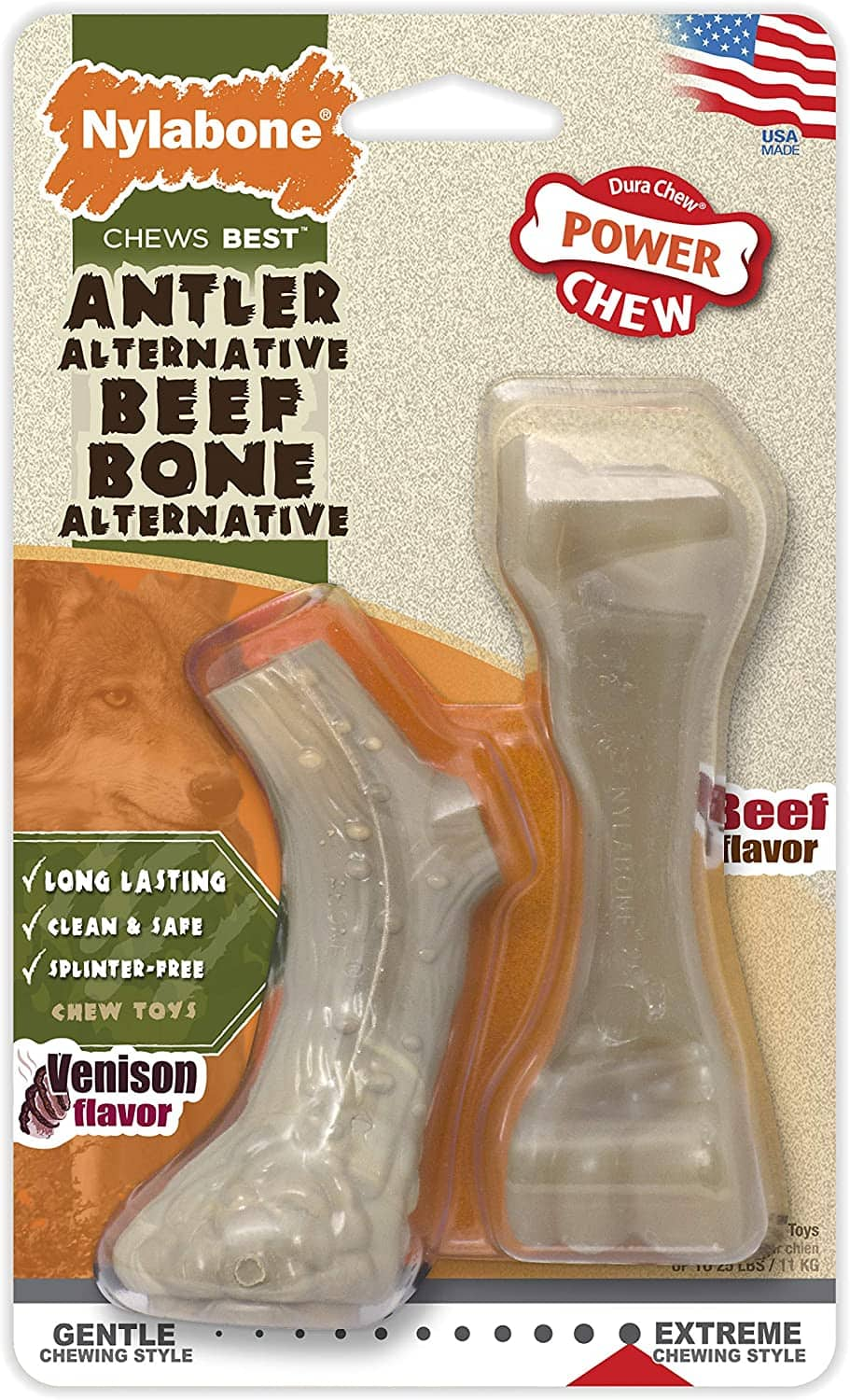 Nylabone Antler And Beef Faux Bone For Dogs $2.50 - FS w/ Prime