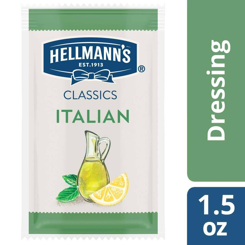 (102-Pack) Hellmann's Classics Italian Salad Dressing Portion Control Sachets 1.5oz (153oz total) - $15.23 or less - FS w/ S&S