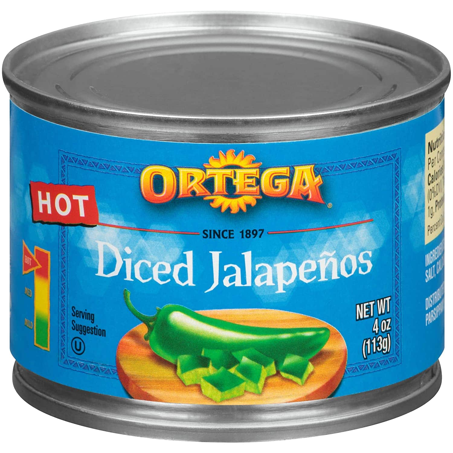 (24-Pack) Ortega Peppers, Diced Jalapenos, Hot, 4 Ounce $11.85 - FS w/ S&S