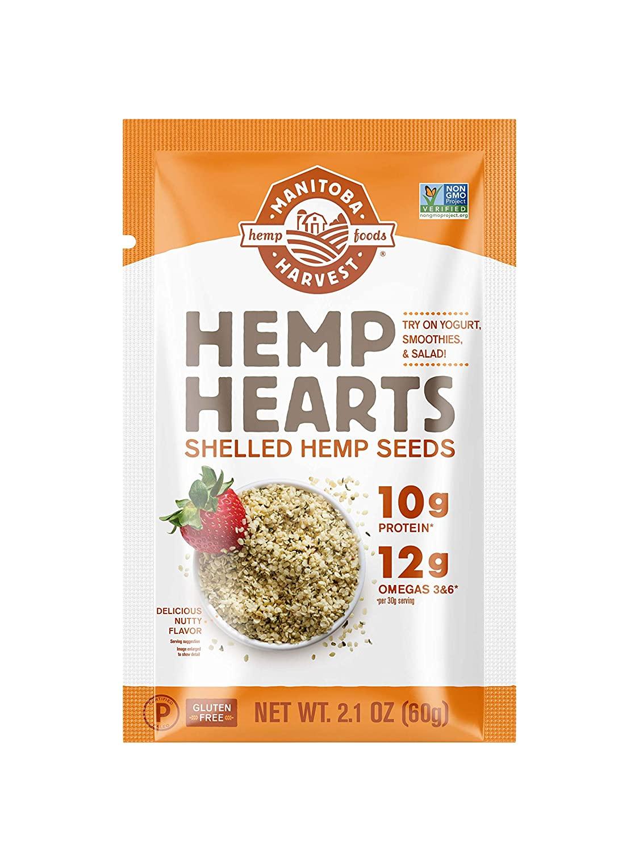 (Pack of 12) Manitoba Harvest Hemp Hearts Raw Shelled Hemp Seeds, 2.1oz (25.2oz total) - $9.40 - FS w/ S&S