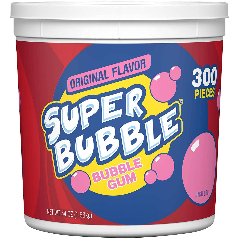 Super Bubble Gum, Original, 54 Ounce Tub (300 Pieces) - $6.45 FS w/ S&S