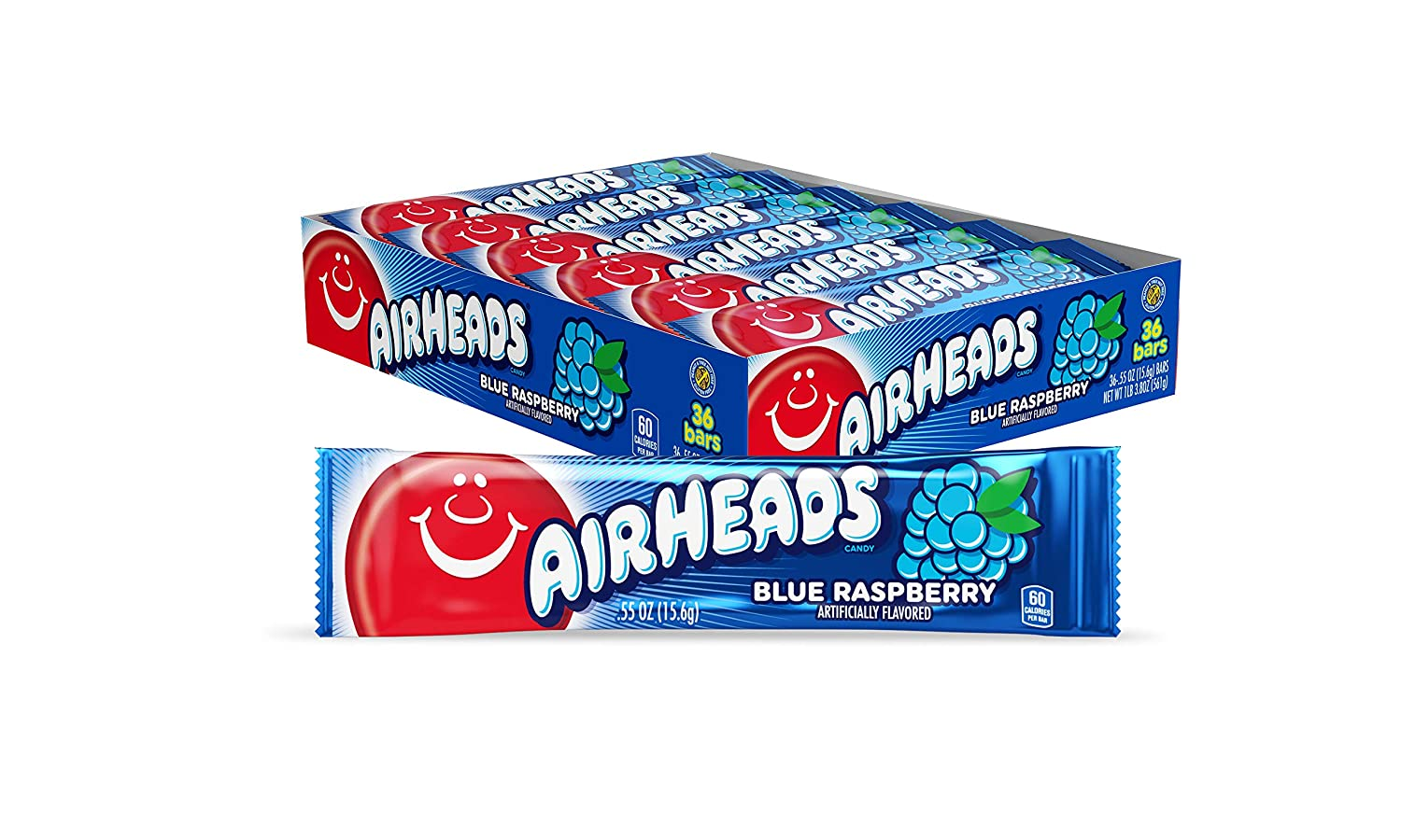 Airheads Candy, 0.55oz (Pack of 36): Blue Raspberry $5.26, Cherry $5.22 or less - FS w/ S&S