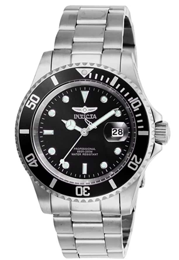 Invicta Men's 40mm Pro Diver Quartz Watch with 20mm Stainless Steel Strap, Black Dial  - $39.99 + Free Shipping