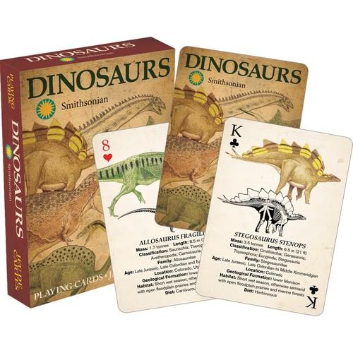 Aquarius Smithsonian Dinosaur Standard Poker Size Playing Cards $3.88 FS w/ Prime
