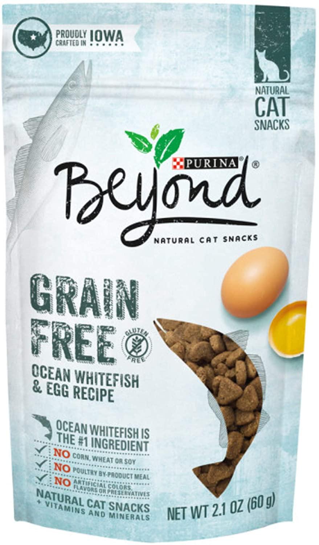 (10-Pack) Purina Beyond Recetas Grain Free Natural Cat Snacks, Ocean Whitefish & Egg, 2.1oz - $10.35 or less - FS w/ S&S