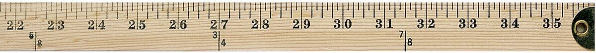 Westcott Wooden Yardstick with Hang Hole and Brass Ends, Clear Lacquer Finish - $2.66 - FS w/ Prime