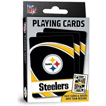 MasterPieces NFL Team Playing Cards: Saints, 49ers, Broncos, Ravens, Steelers $1.50 & More