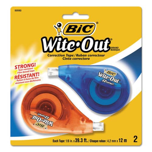 BIC Wite-Out Brand EZ Correct Correction Tape, 2-Count $1.50 - FS w/ Prime