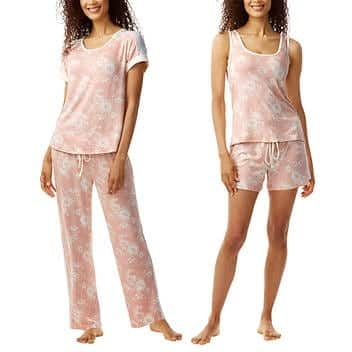 Costco Members: Lucky Brand Ladies' Super Soft 4-Piece PJ Set - Various Colors and Sizes - $14.99 + Free Shipping