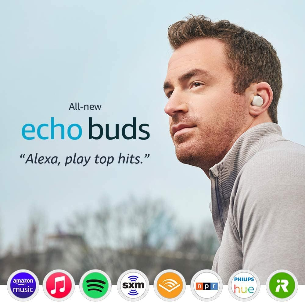Amazon Echo Wireless Earbuds (2nd Gen) + 6-Mo. Audible Plus & Amazon Music Trial $100 + Free S&H (Trials valid for New Subscribers)
