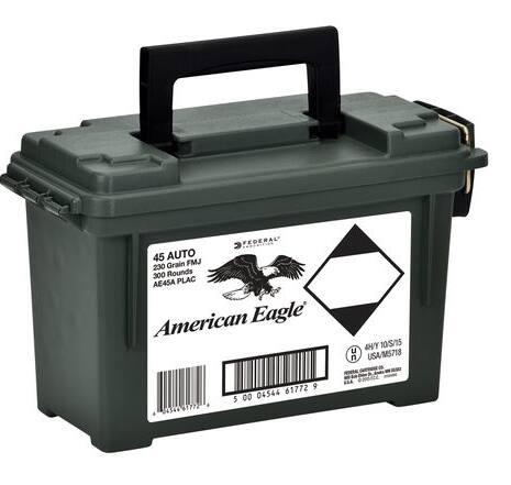 600 Rounds American Eagle Ammo w/can - .45 ACP ($149.98 shipped ($0.25/rd) after MIR) - Gander Mountain