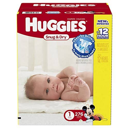 Amazon Family: Huggies Snug & Dry Diapers, Size 5, 172 Count $26.27 w/S&S 20% Prime