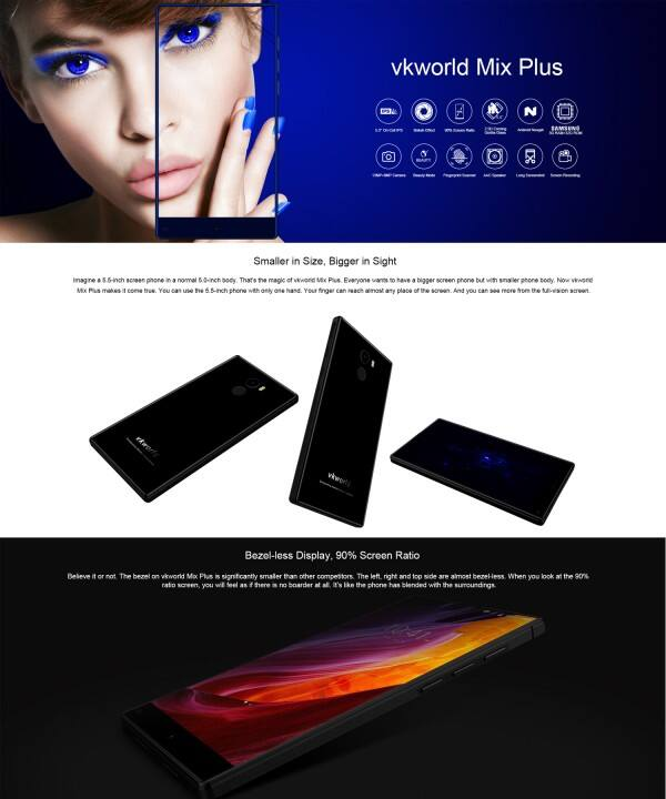 Mix Plus 4G Phablet phone - BLACK   - $129.95
