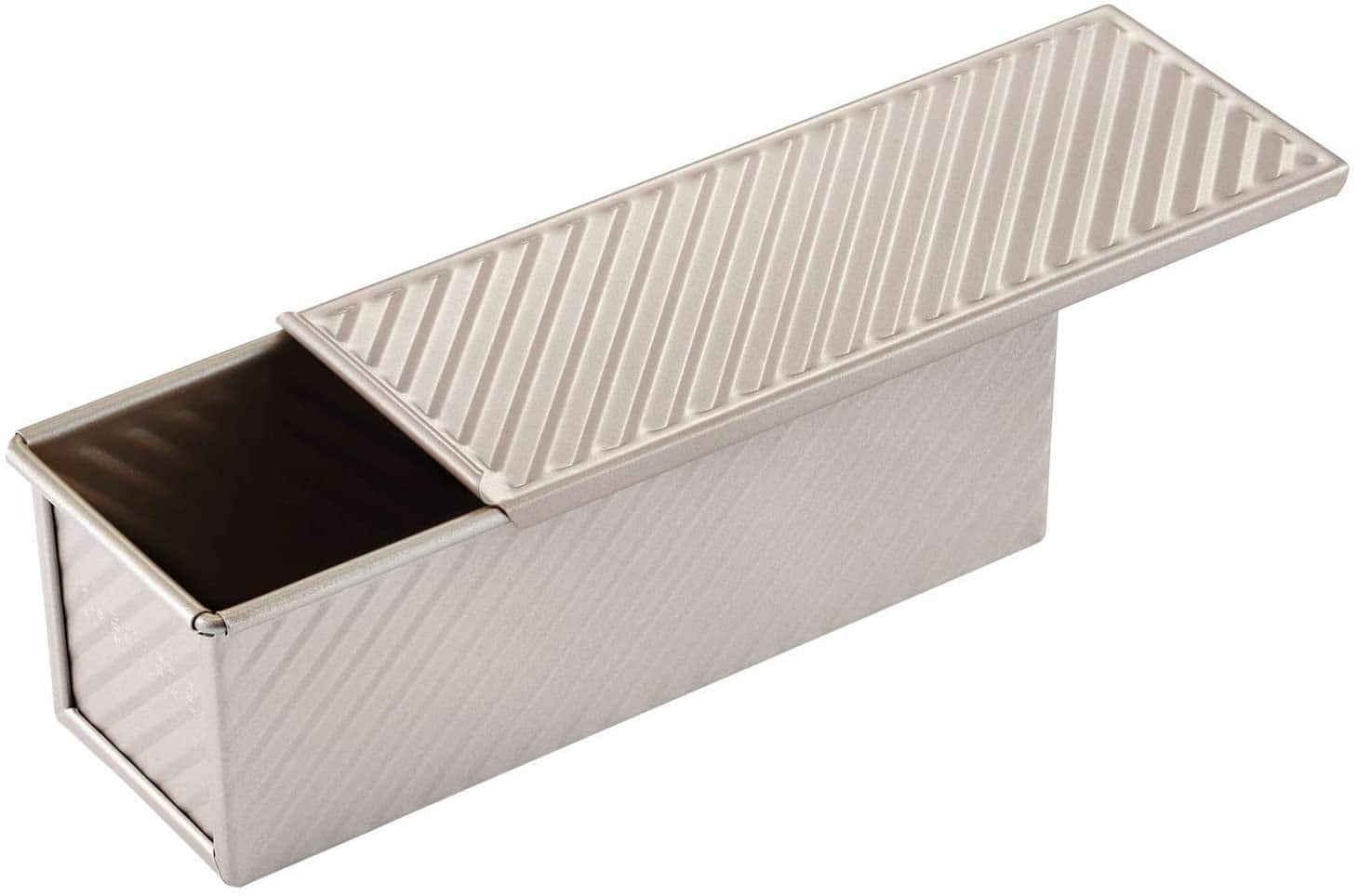 CHEFMADE Mini Pullman Loaf Pan with Lid, 0.66Lb $10