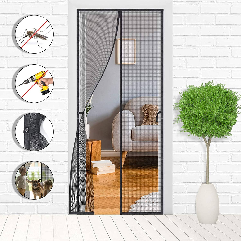 Magnetic Screen Door - Mesh Net Doors with Magnet  39 x 83 inches $10.20 at Amazon