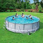 "Coleman 14' x 42"" Power Steel Frame Above-Ground Swimming Pool Set $199 at Walmart"