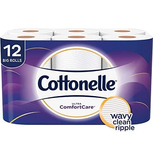 Cottonelle Ultra ComfortCare Family Roll Toilet Paper Bath Tissue, 12 Count $5.7