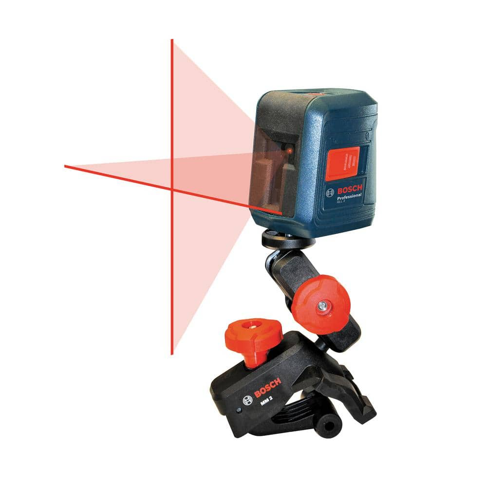 Bosch 30 ft. Self-Leveling Cross-Line Laser Level with Clamping Mount - GLL 2 - $39.88 - YMMV Home Depot $39.88