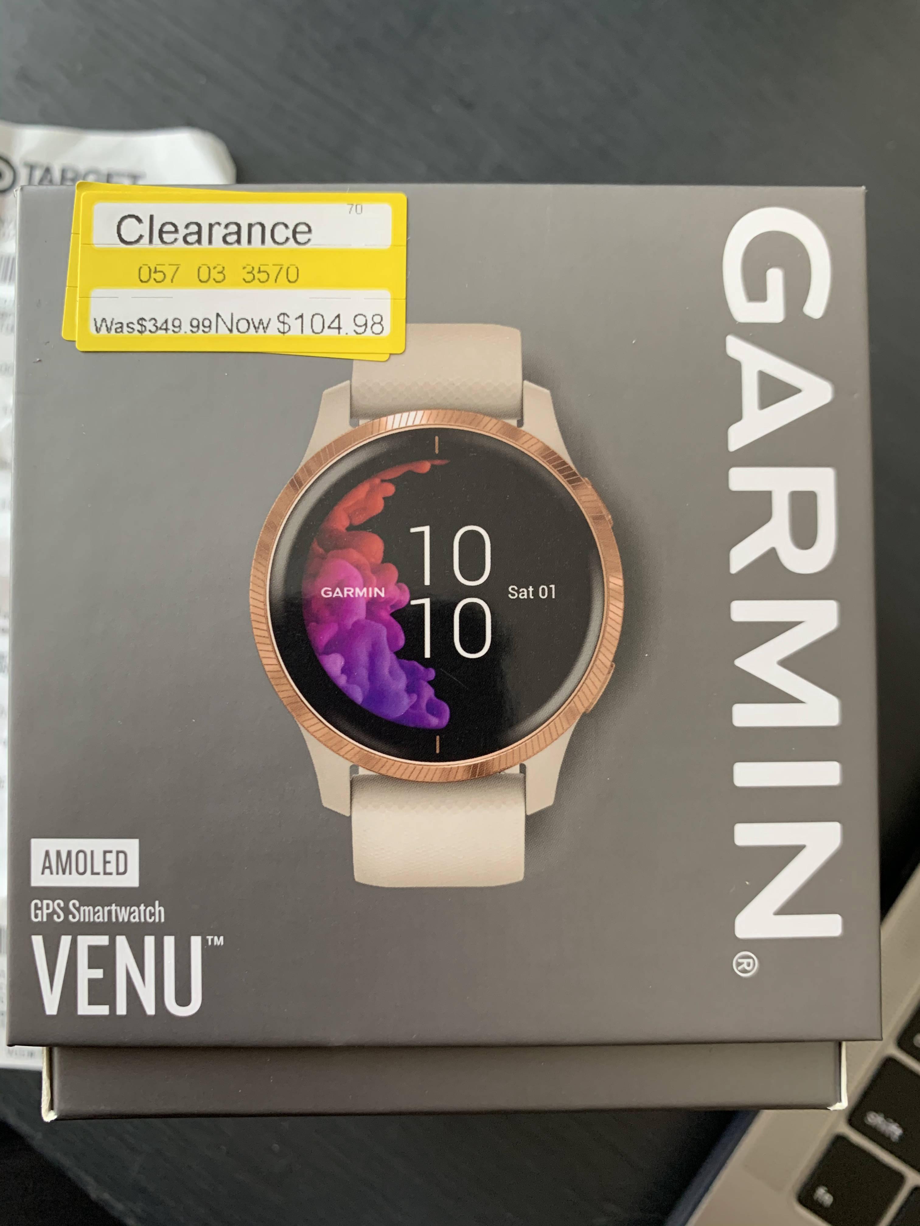 YMMV - $104.98 - Garmin Venu Rose Gold and Sand - Target