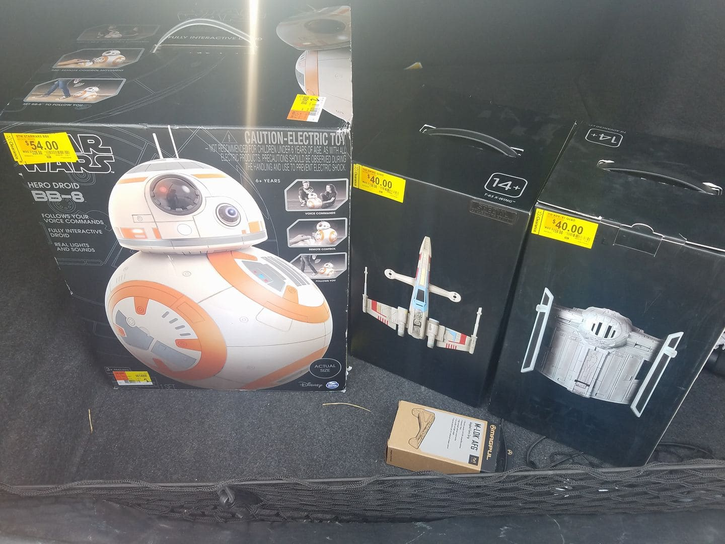 Hero Droid BB-8 $54, Propel Tie Fighter Drone $40 and Propel X-Wing Drone $40 on clearance at Walmart YMMV