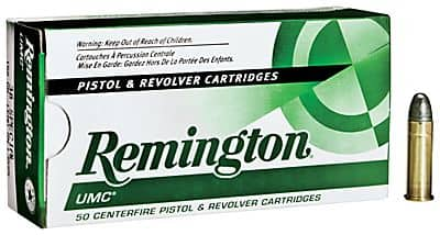 Remington 9mm UMC 124gr FMJ Ammo $10.97 per 50 round box at Bass Pro Shops -