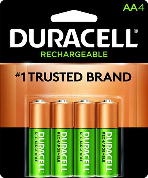 Duracell - Rechargeable AA Ni-mh Batteries 4 pack $8.19
