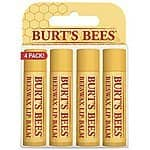 *BACK AGAIN* 4-Count Burt's Bees 100% Natural Lip Balm (Beeswax) $5.30 + Free Shipping