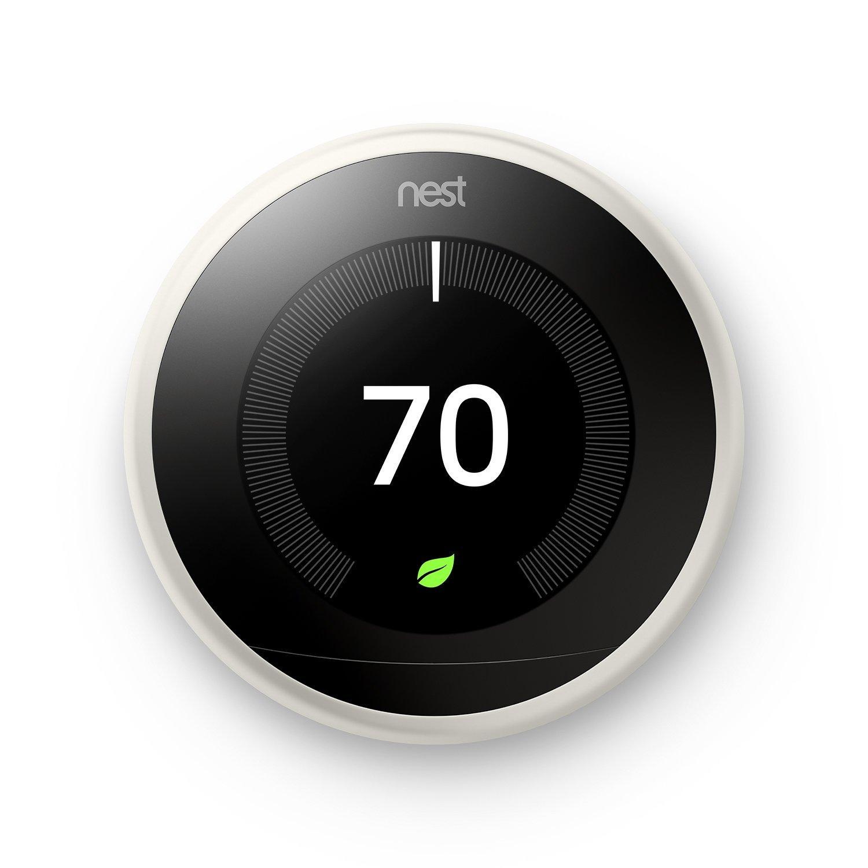 White Nest Thermostat 3rd Gen via Alexa Voice deals $199
