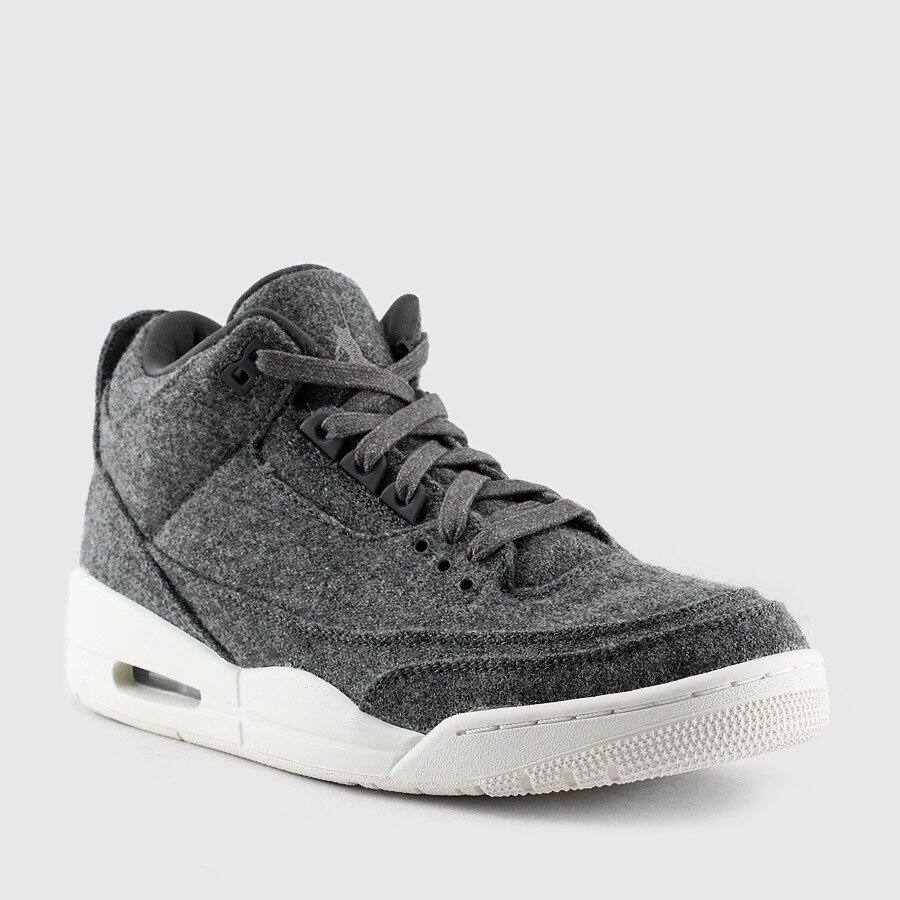 Air Jordan 3 Retro Wool (Dark Grey | Sail) - $109.99, free shipping