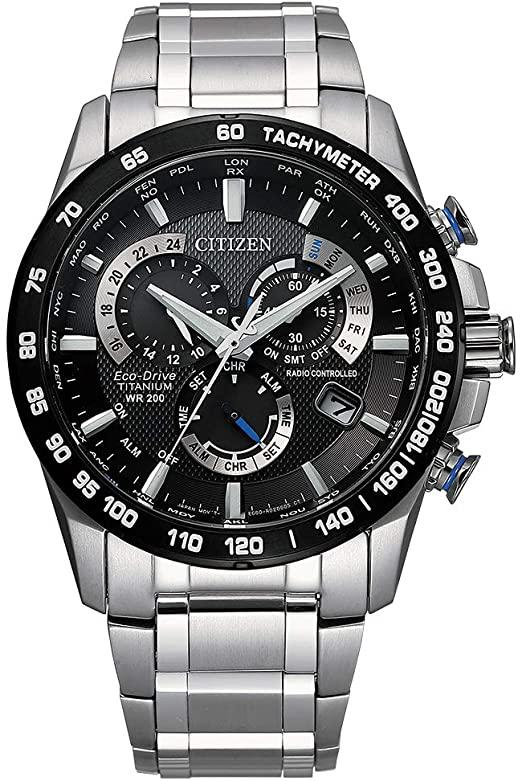 Citizen Men's PCAT Eco-Drive Chronograph Watch in Super Titanium, Silver, CB5908-57E; $297.99 (Amazon Lightning Deal)