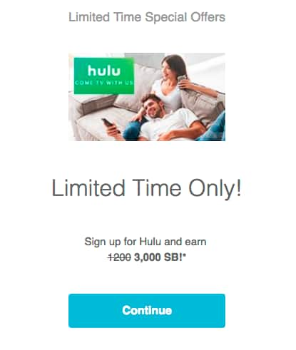 ($22 Money maker)Swagbucks: Purchase a Hulu Subscription for $8 and get 3000 SB